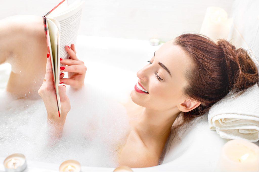 Book and Bubble Bath